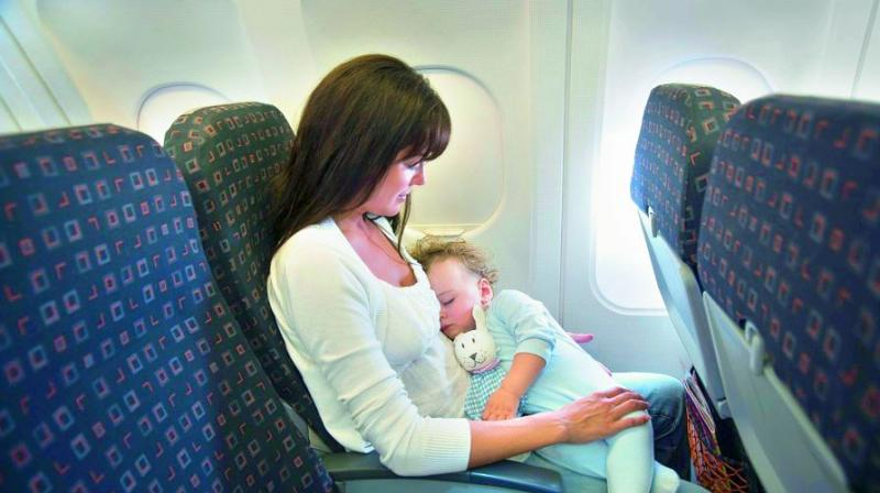 CHANGING TIMES: Children below 12 will not be allowed to sit in rows 1-4 and 11-14 (zones for business travellers) in Indigo airlines.