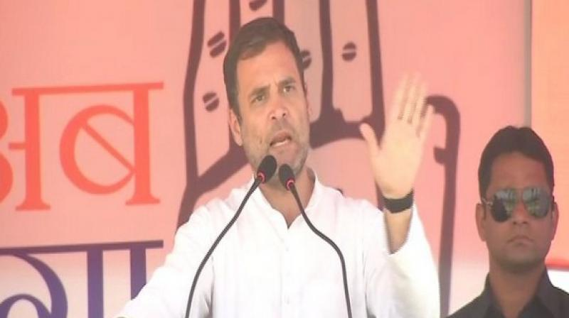 Modi 'chowkidar' of thieves, has insulted guards of Bihar: Rahul Gandhi