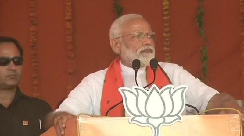 PM Modi addressing a poll rally in Uttar Pradesh's Etah (Picture: ANI twitter)