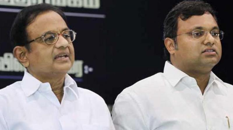 A Delhi court today extended the protection from arrest granted to former Union minister P Chidambaram and his son Karti in the Aircel-Maxis money laundering case till August 7. (Photo: File | PTI)