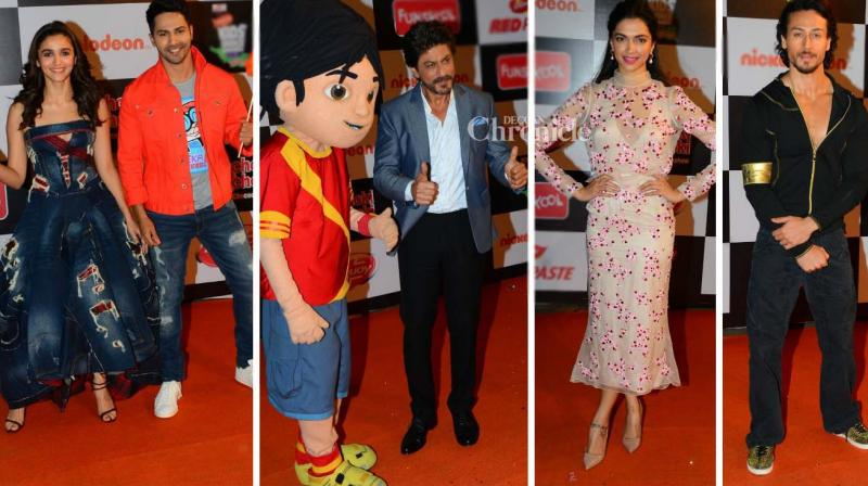 Several Bollywood celebrities were present at an kids' choice awards show on Monday. (Photo: Viral Bhayani)