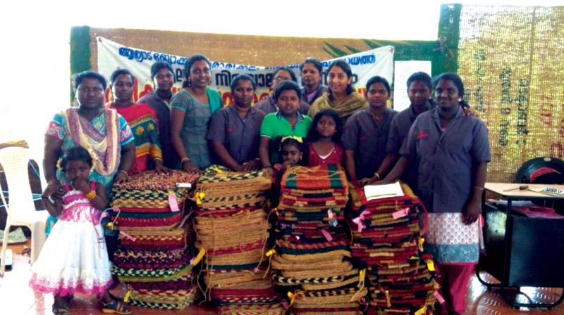 Tribal women trained under P.K Kalan project with their products