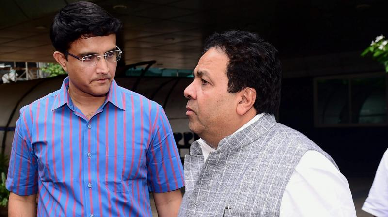 BCCI special committee is headed by Indian Premier League (IPL) chairman Rajeev Shukla with Sourav Ganguly as it member. (Photo: PTI)