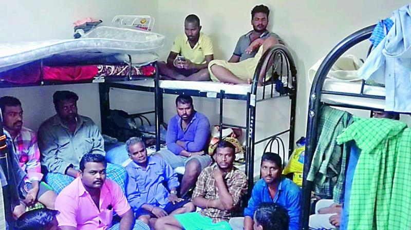 The 22 migrants are forced to share the three rooms provided by the travel agent amongst themselves in Dubai.(Photo: DC)