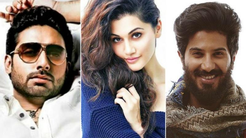 Abhishek, Taapsee, Dulquer in a photoshoot.