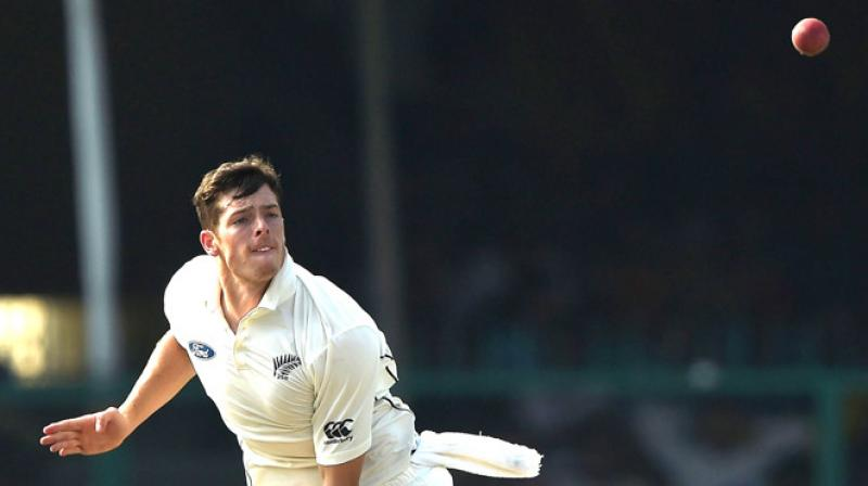 Santner suffered discomfort during the limited overs matches against England and had a scan, which revealed a bone defect. (Photo: AFP)