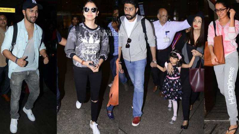 Numerous Bollywood celebrities were seen at various locations in Mumbai on Monday. (Photo: Viral Bhayani)