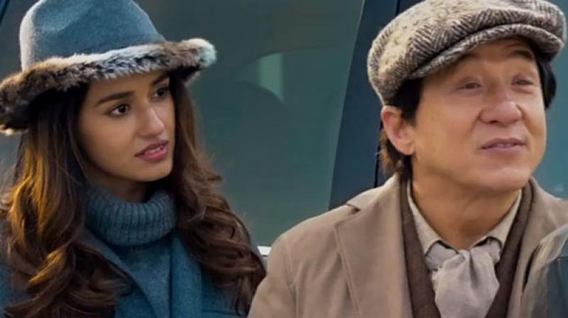 Disha and Jackie Chan in a still from 'Kung Fu Yoga'.