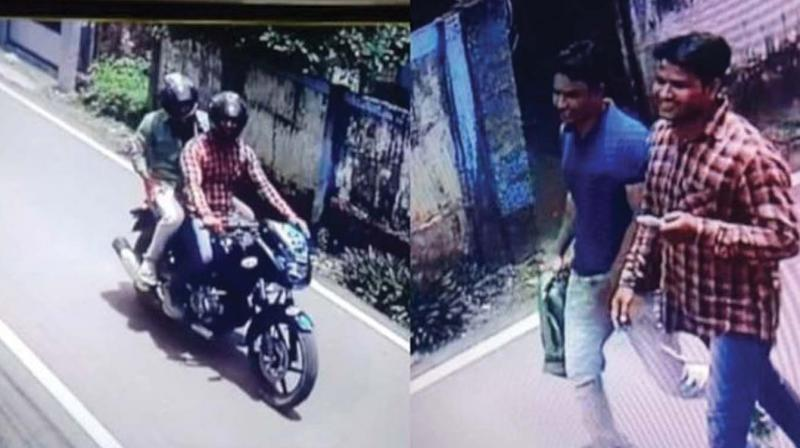 The CCTV image of chain snatchers