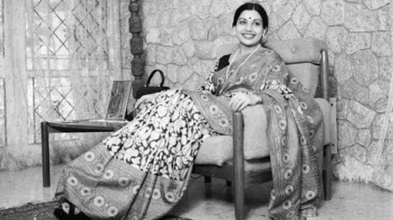 Before heading the AIADMK, Jayalalithaa was a big superstar.  (Photo: Video grab)