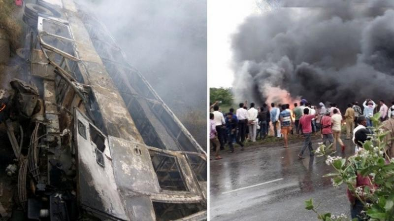 Victims of an accident involving a bus in India were 27 people