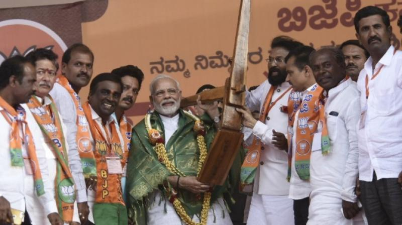 Bellary, from where Reddy brothers have been given ticket again, became the second stop in Prime Minister Narendra Modi's second visit to Karnataka this week. (Twitter Screengrab | @narendramodi)