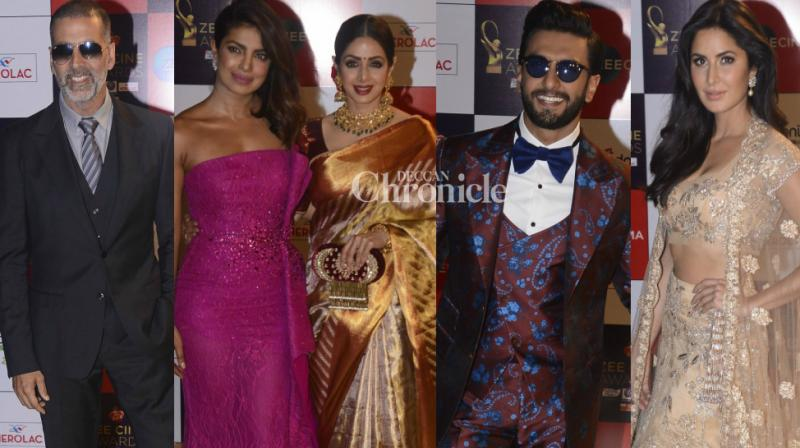 Bollywood stars came out in style at the Zee Cine Awards held in Mumbai on Tuesday. (Photo: Viral Bhayani)