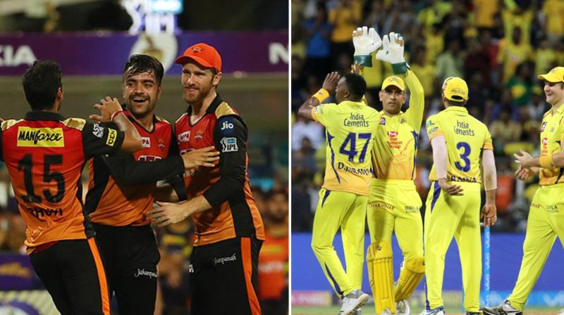 MS Dhoni-led CSK and Kane Williamson-led Sunrisers Hyderabad will leave no stone unturned to win the 2018 IPL title. (Photo: BCCI)
