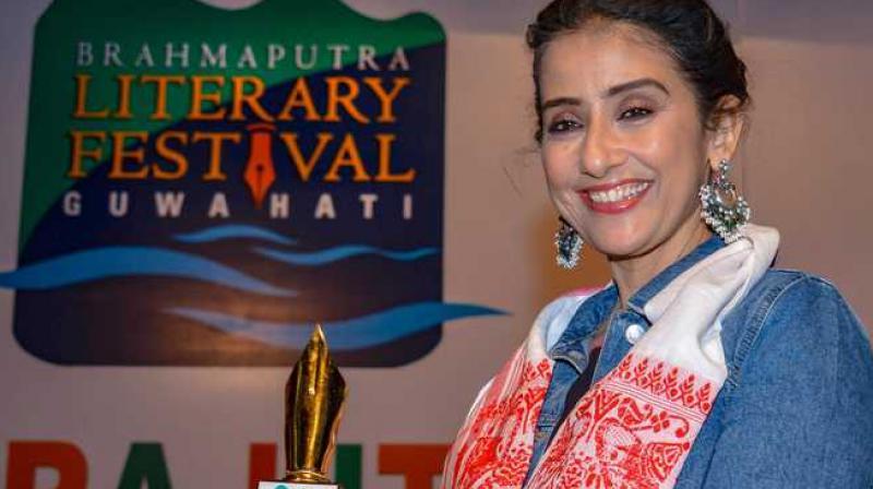 Manisha Koirala a Brahmaputra Literary Festival 2019 in Assam.
