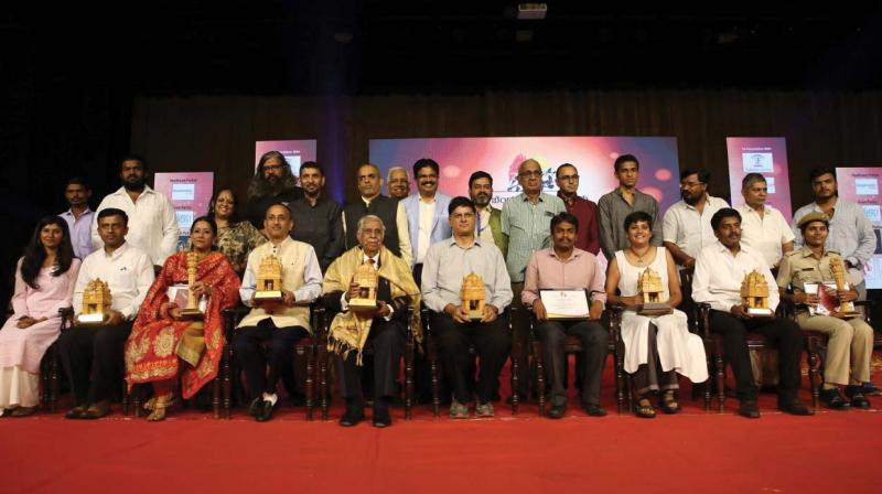 """Ashok Kamath of Akshara Foundation was honoured with the coveted """"Namma Bengalurean of the Year"""" award for his exemplary service to improve public education system in Bengaluru and the state."""