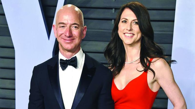 The split throws into question how the couple will split their fortune, which includes an approximately 16 percent ownership stake in Amazon.