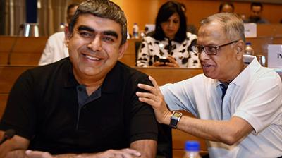 Vishal Sikka, the first non-founder CEO of Infosys, on Friday resigned from the company following months of acrimony with high-profile founders, led by NR Narayana Murthy citing malicious and personal attacks on him. (Photo: PTI)
