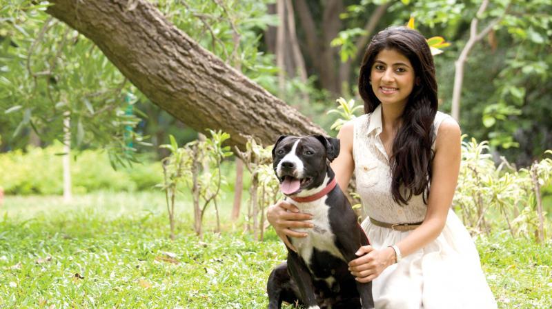 Yamika Damani with her dog