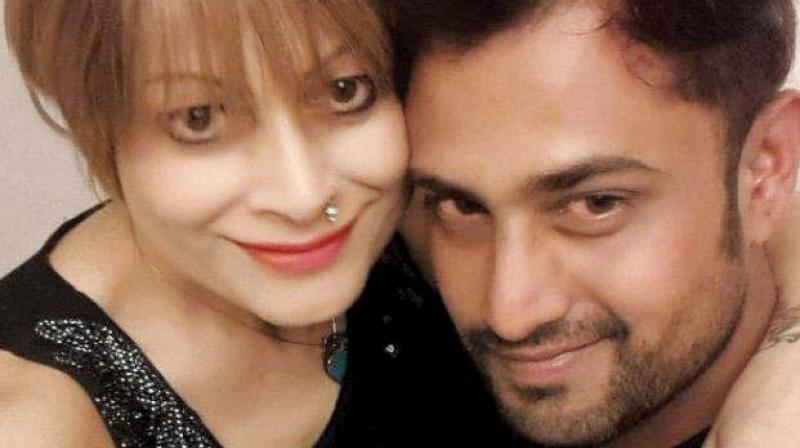 Bobby Darling with her husband Ramnik Sharma.