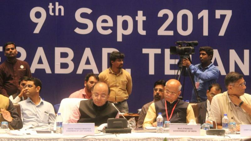 Finance MInister Arun Jaitley is chairing the 21st GST Council meet at Hyderabad International Convention Centre.