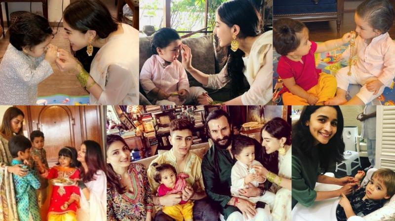 Raksha Bandhan: Cute Taimur with Sara, Inaaya