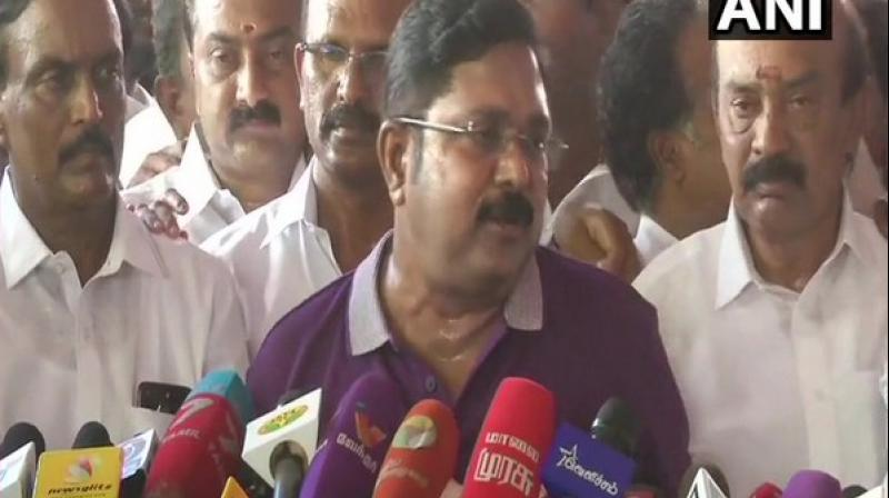 'It is very strange that many of our supporters had voted for our party but their votes have not been registered, there are instances where no votes were cast for our party. How is it possible?' AMMK leader TTV Dhinakaran said. (Photo: ANI)