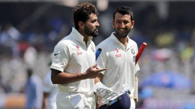 Murali Vijay and Cheteshwar Pujara will look to push Sri Lanka on the backfoot on the second day of the second Test. (Photo: AP)