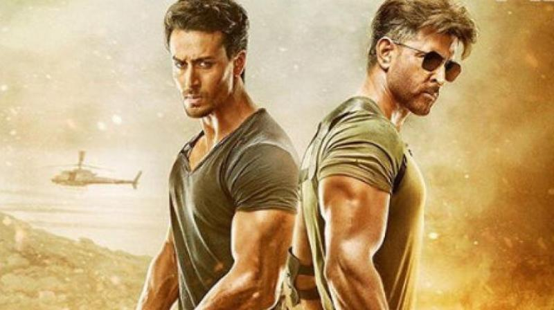 Tiger Shroff and Hrithik Roshan in WAR poster.
