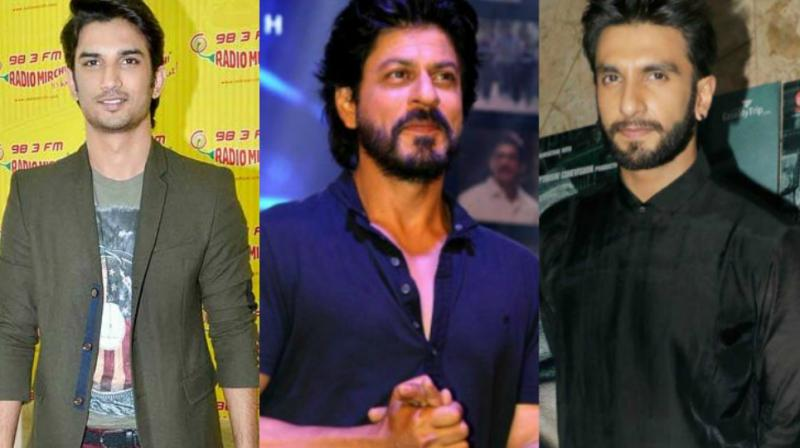 It will be the first time that Sushant Singh Rajput, Shah Rukh Khan and Ranveer Singh's films would be clashing.