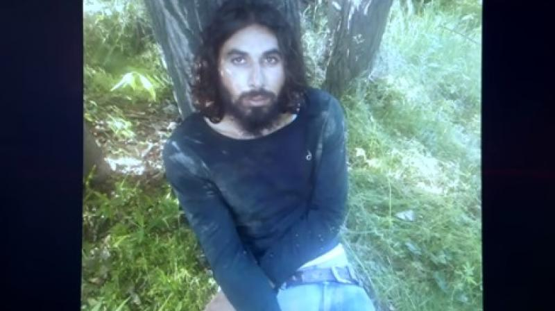 Indian Army soldier Aurangzeb belonged to 4 Jammu and Kashmir Light Infantry and was posted at the 44 Rashtriya Rifles camp at Shadimarg in Shopian. (Photo: YouTube | Screengrab)
