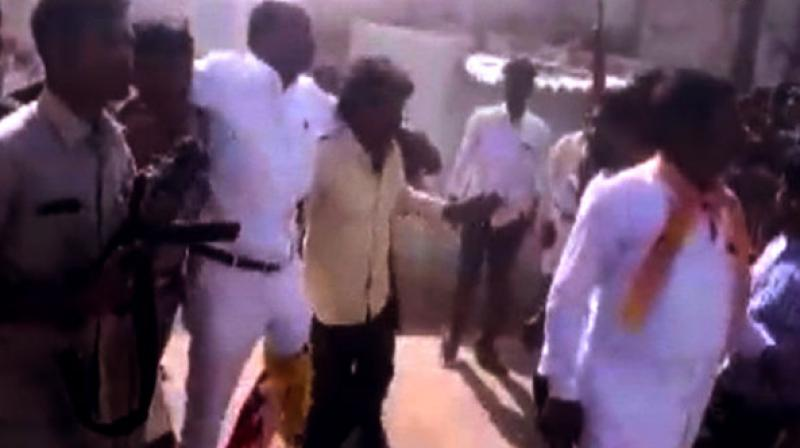 Reddy sustained injuries on his leg and was immediately taken to Kurnool government hospital. (Photo: ANI)