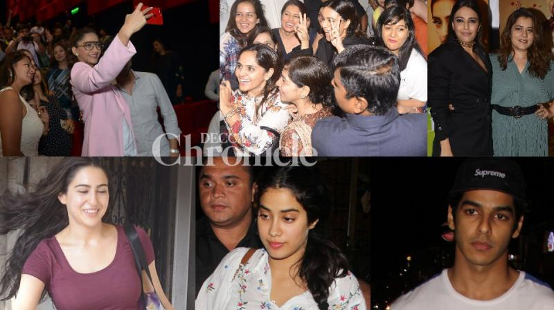 From the team of 'Veere Di Wedding' celebrating success with audience to Janhvi Kapoor and Ishaan Khatter's date, Bollywood stars were snapped at various locations on Monday. (Photo: Viral Bhayani)
