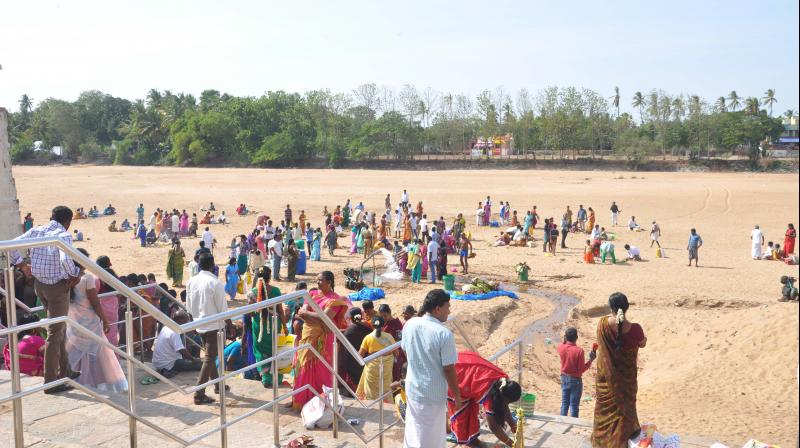 A dry Cauvery awaiting water. (Photo:DC)