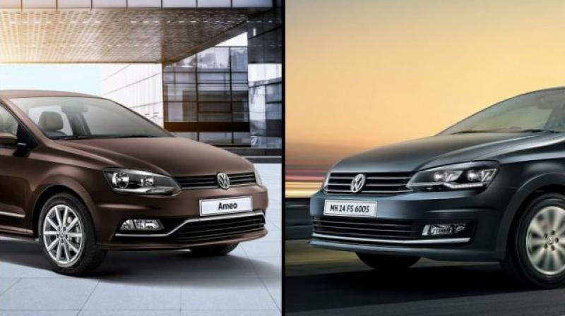 Carmaker is offering various benefits like cash discounts, 7.99 per cent rate of interest and other benefits on the Ameo and the Vento.