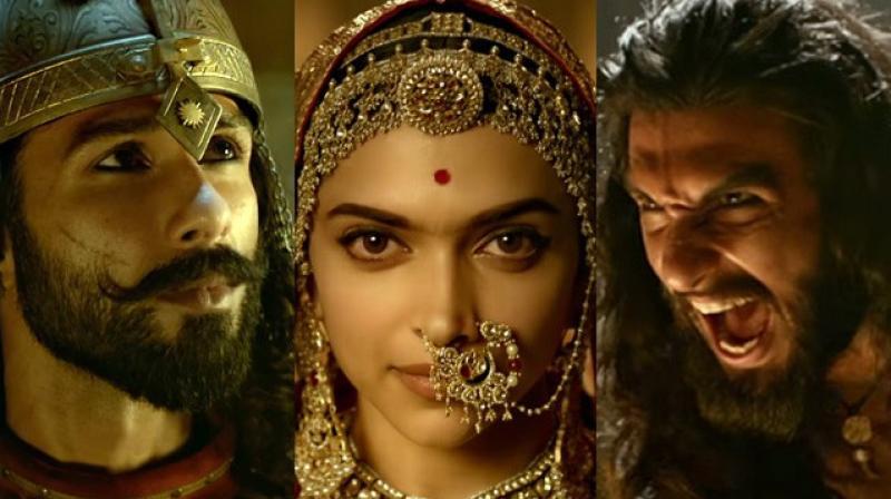 Shahid Kapoor, Deepika Padukone and Ranveer Singh in 'Padmavati.'
