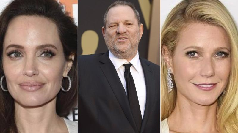 Both Angelina Jolie and Gwyneth Paltrow's ex Brad Pitt is also a part of allegations against Harvey Weinstein. (Photos: AP)