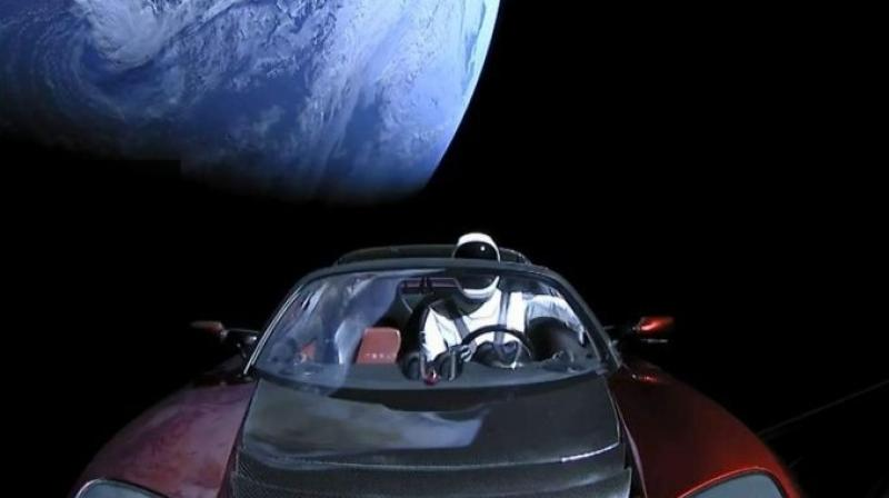 "Images of the exposed Roadster and ""Starman"" — named after a David Bowie song — against the backdrop of our blue planet, were burning up the internet long after Tuesday's launch."