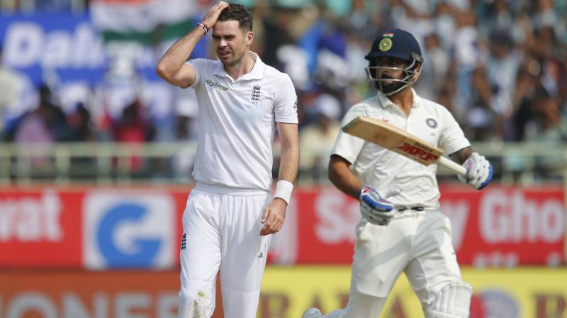 James Anderson on Thursday made a comeback after recovering from a shoulder injury that had kept him out since August. (Photo: AP)