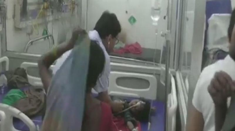 Bihar Chief Minister Nitish Kumar has announced a compensation of Rs 4 lakh each to the families of the children who died due to AES. (Photo: ANI)