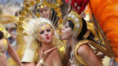 The carnival has been held every year since 1966 and one of the largest festival celebrations of its kind in Europe.(Photo: AFP)