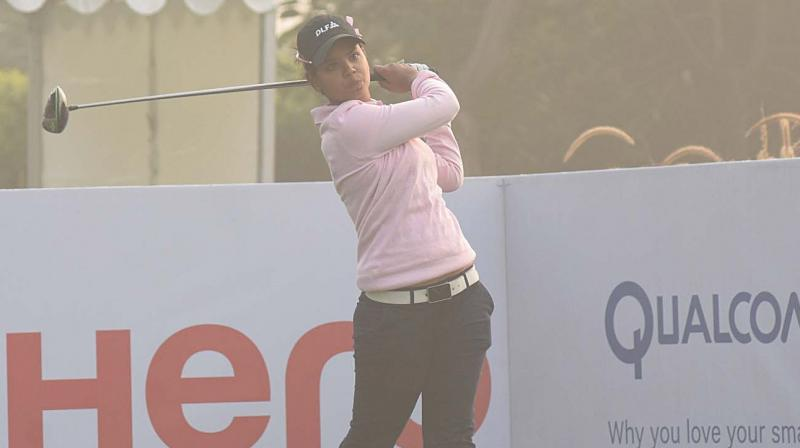 Vani Kapoor positioned herself to make a push for the big time on the opening day of the Hero Women's Indian Open