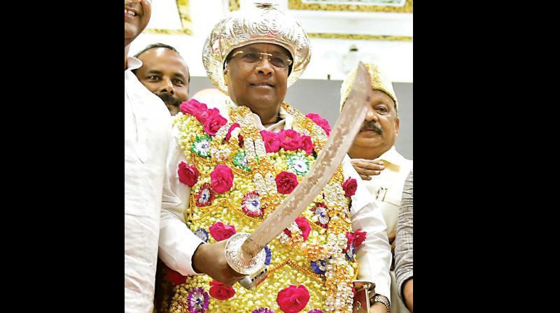 CM Siddaramaiah at Tipu Jayanti celebrations in Bengaluru on Friday.