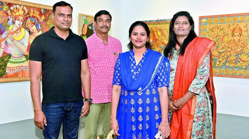 From left to right: Pramod Reddy, Ahobilam Prabhakar, Udaya Chiluveru and Gouri Vemula.
