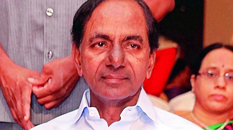 Telangana Chief Minister K. Chandrasekhar Rao.