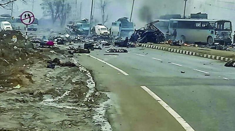 On February 14, over 40 soldiers were killed when a convoy of the Central Reserve Police Force was attacked by a suicide bomber of the Pakistan-based terror group Jaish-e-Mohammed.   (Photo: PTI | File)