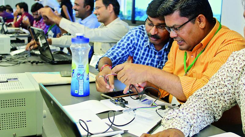 Venkata Shimadri, the CEO of Moschip Semiconductors, emphasised the need to develop engineering graduates in niche technologies. (Representational Image)