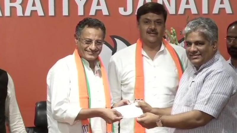 Samajwadi Party MPs joining BJP. (Photo: ANI)