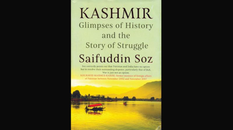 KASHMIR, Glimpses of History and the Story of Struggle by Saifuddin Soz  Rupa Publications India Pvt Ltd., Rs 595.