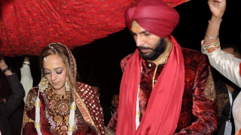 Cricketer Yuvraj Singh and actor Hazel Keech's wedding ceremonies have caused quite a stir on social media. (Photo: PTI)